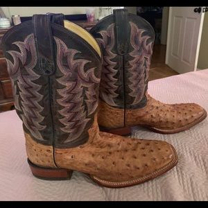 Tony Lama Shoes - Tony Lama Full Quill Ostrich Boots